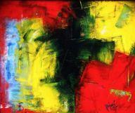 """Raintown, 2009 Mixed Media 20""""x24"""""""