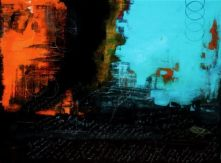 "Rough Language, 2009 Mixed Media 36""x48"""