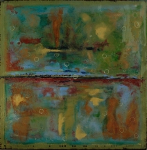 "Cupping the Light, 2012 Mixed Media 36""x36"""