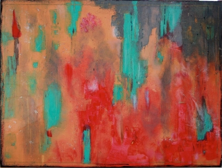 """In the Language of Hands, 2012 Mixed Media 36""""x48"""""""