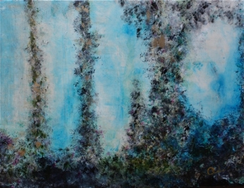 "Blue Shimmers, 2010 Mixed Media 30""x40"""