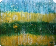 "Rainland, 2009 Mixed Media 20""x24"""