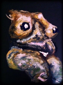 """Nude, 2012 Oil on Paper 8""""x10"""""""