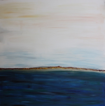 "Sea Escape, 2010 Mixed Media 48""x48"""