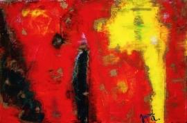 """Burst, 2009 Mixed Media 16""""x24"""""""